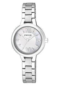CITIZEN WICCA白蝶貝面板公主系列錶款/BG3-724-11