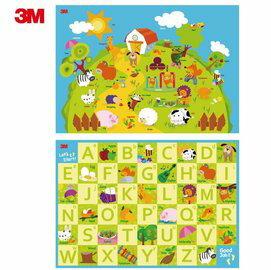 美馨兒:*美馨兒*(+碼贈幼兒枕or造型巧拼相機)3M兒童安全雙面遊戲地墊動物英文5390元