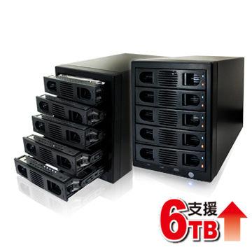 伽利略 DigiFusion 35D-U3ES5R USB3.0 + eSATA 1至5層抽取式硬碟外接盒 [天天3C]