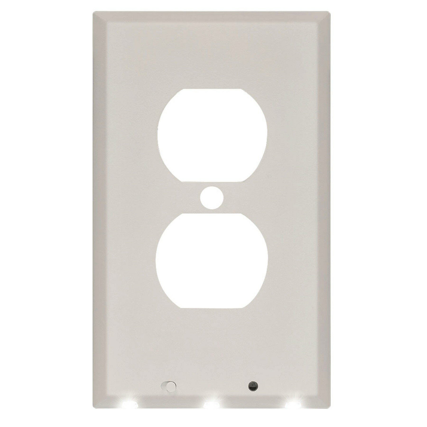 Toolsmithdirect powerglow wall outlet plate led night light onoff powerglow wall outlet plate led night light onoff switch white duplex 240025 0 aloadofball Images