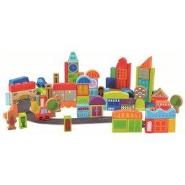 德國Hape愛傑卡城市創意積木組(80塊)1240元