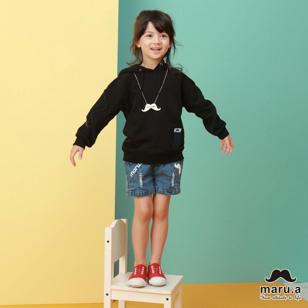 【maru.a】親子款連帽靴子繡花袖子網紗簍空休閒T-shirt(2色)8921216 / 8951211 6