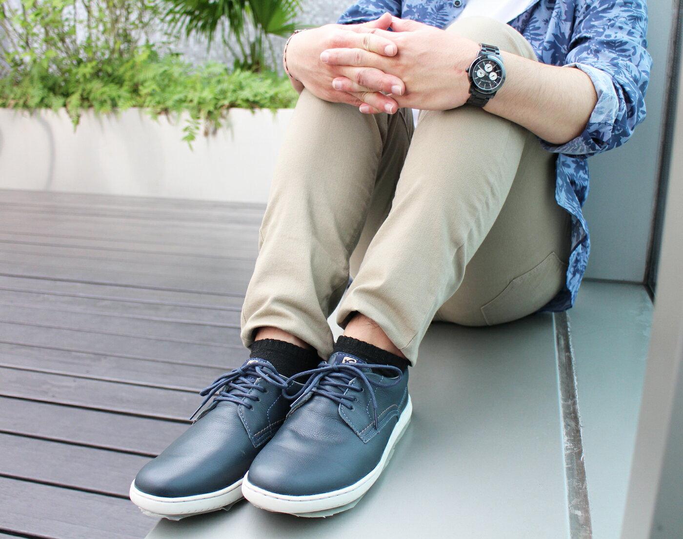 【KILDARE 促銷7折│全店免運】KILDARE綁帶休閒鞋 藍綠 男 慢跑 4