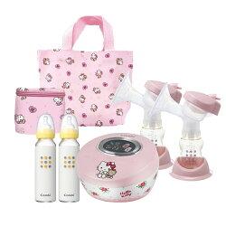 【Combi】 Hello Kitty 限量版自然吸韻雙邊電動吸乳器 (贈品送完為止)