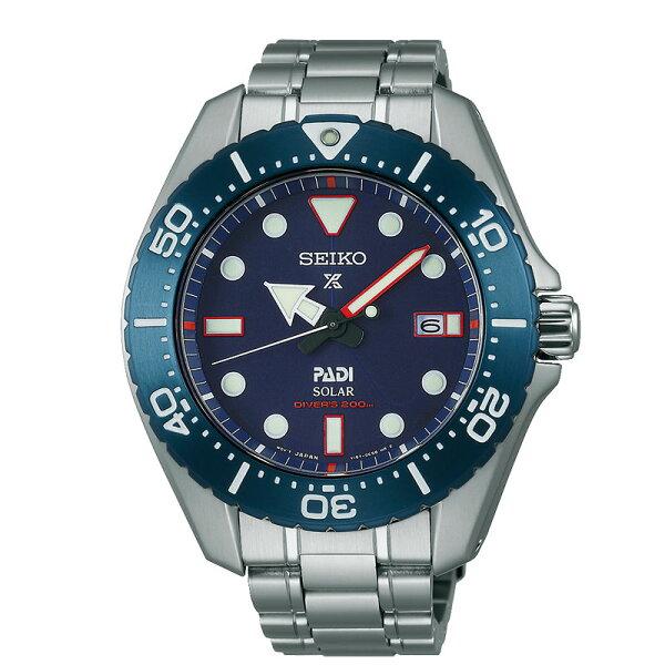 SeikoProspexV157-0BS0B(SBDJ015J)PADI聯名鈦金屬太陽能潛水腕錶藍面44mm