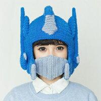 保暖配件推薦變形金鋼/柯博文 造型編織保暖帽 100%手工織作(非機器車織仿品)