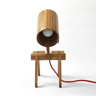忠犬小八竹製檯灯 閱讀燈 夜燈 造型燈 家居飾品