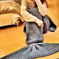 保暖配件推薦現貨+預購【Jolin、昆凌、各大部落客都瘋】美人魚毛毯 針織保暖毯。爆紅美人魚系單品