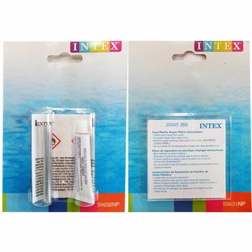 【奇買親子購物網】INTEX充氣泳具.充氣玩具游泳池修補貼(1盒)+修補膠(1盒)