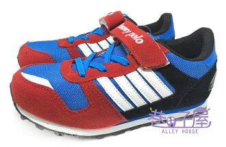 【巷子屋】JIMMY POLO 男童復古風撞色運動慢跑鞋 [68035] 紅 超值價$298