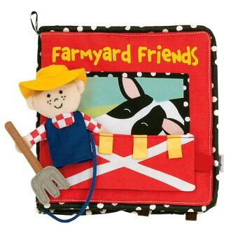★衛立兒生活館★美國Manhattan Toy軟布書-農場朋友