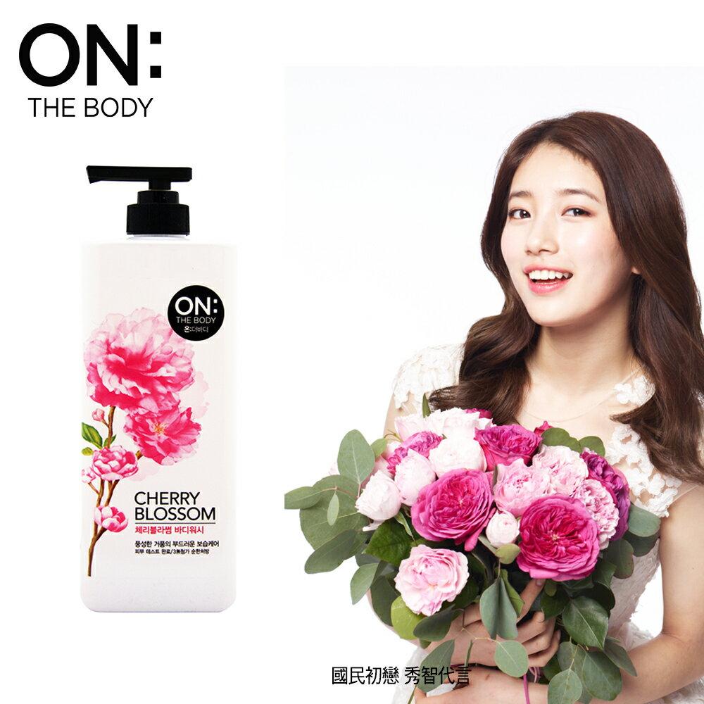 【韓國ON THE BODY】法國櫻花潤澤沐浴精900ML
