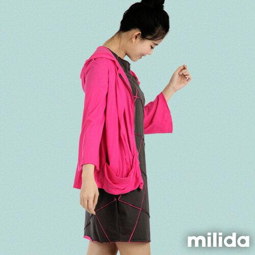 【Milida,全店七折免運】-早春商品-外套款-連帽百褶款 3