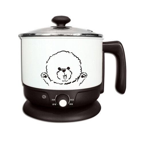 【富樂屋】晶工牌 1.5L多功能美食鍋/蒸煮鍋 JK-105W (加贈不鏽鋼蒸籠)