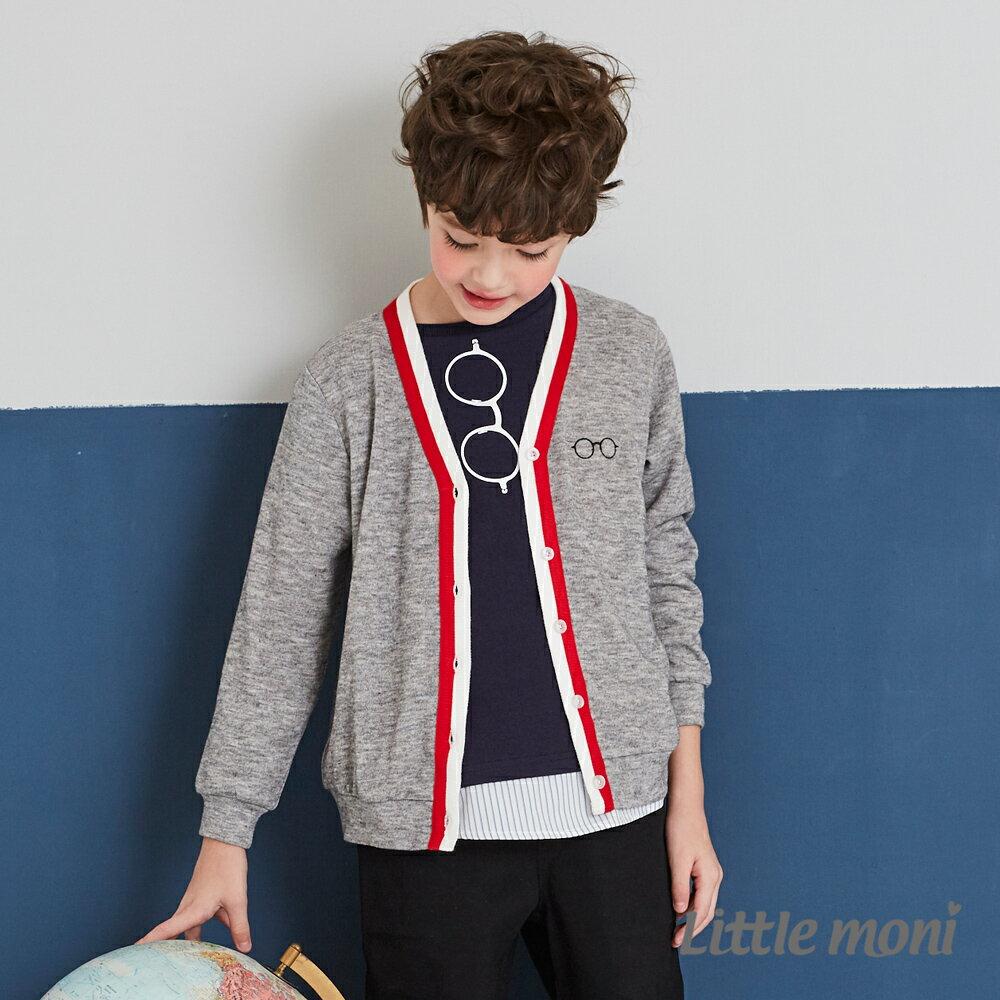 Little moni 學院風針織外套-麻花灰(好窩生活節) 0