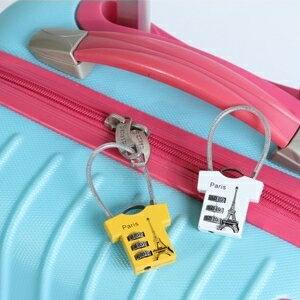 美麗大街【BF103E1E1E828】創意卡通密碼鎖箱包鎖日記本鎖衣服造型掛鎖