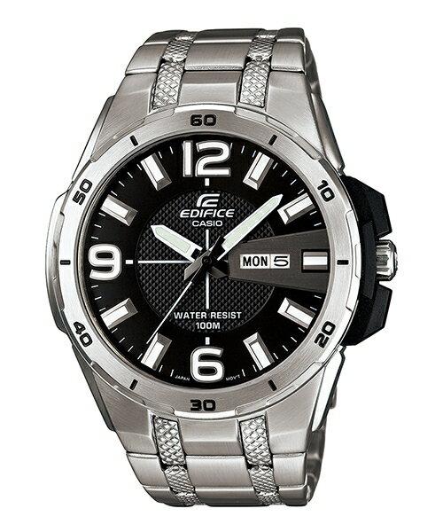 CASIO EDIFICE EFR-104D-1A越野硬漢流運動腕錶/黑面45mm