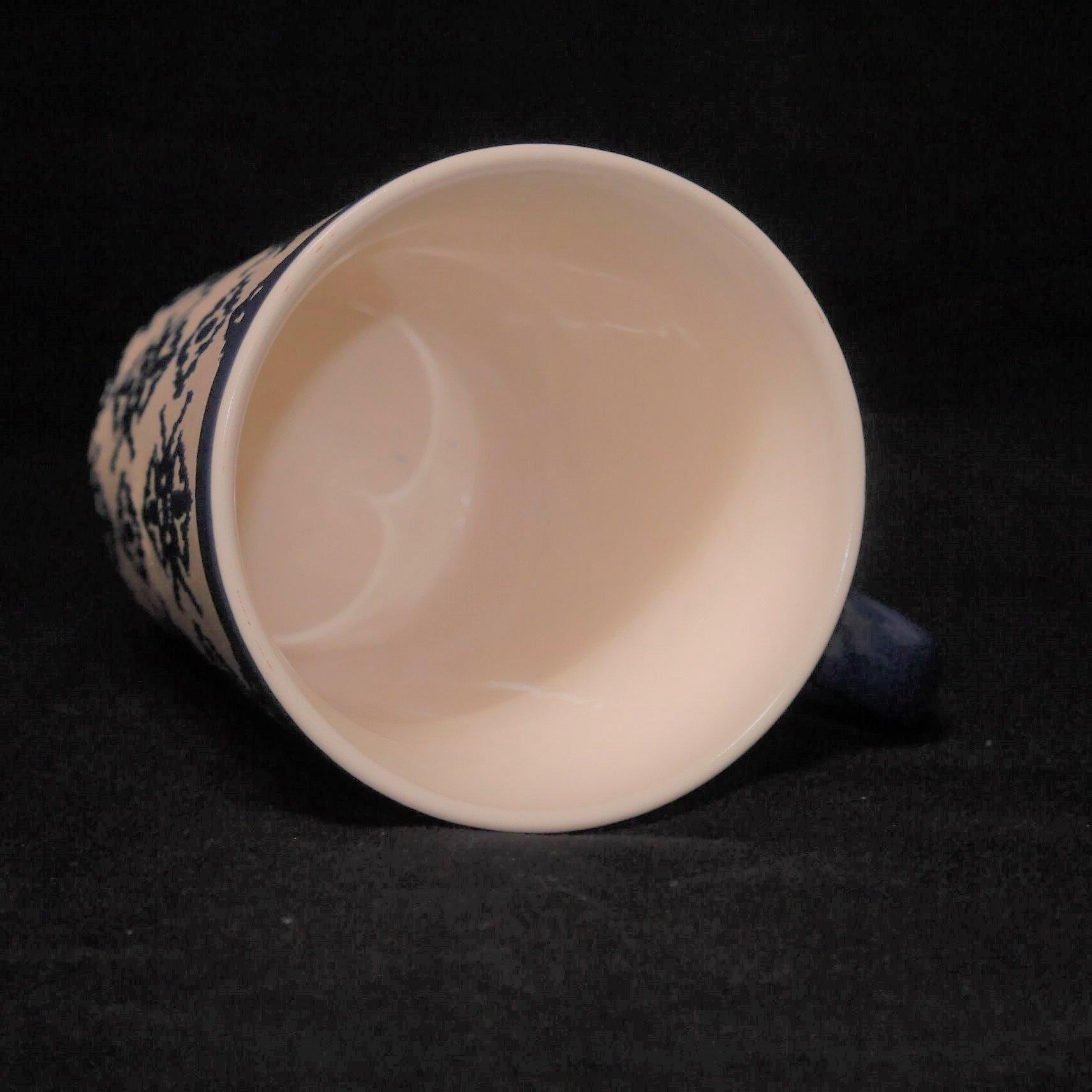 馬克杯藍色幾何紋500ml【曉風】 2