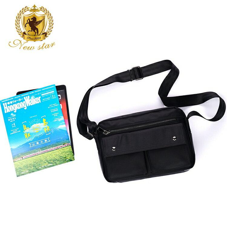 日系防水側背包包 升級版  (機能 雙口袋 雙層 斜背包 porter風 NEW STAR BL89 8