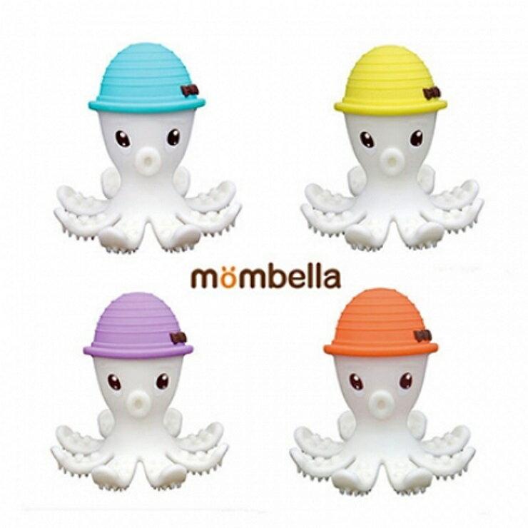 【寶貝樂園】英國mombella 樂咬咬章魚固齒器(藍/黃/紫/橘)