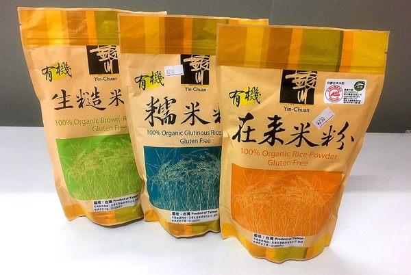 銀川 有機在來米粉/有機糯米粉/有機(生)糙米粉 600g