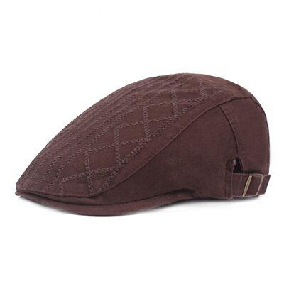 貝雷帽鴨舌帽-戶外棉質線條刺繡男女帽子6色73tv187【獨家進口】【米蘭精品】