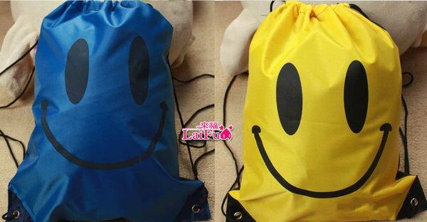 ★草魚妹★笑臉輕便游泳包包防水包購物袋游泳衣泳裝比基尼可攜帶,直購價150元