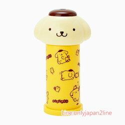 【真愛日本】17032200024 按壓式棉花棒罐-PN與倉鼠黃 三麗鷗家族 布丁狗 花棒收納
