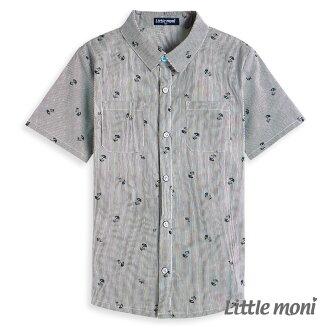 Little moni 涼夏渡假開襟襯衫-黑色