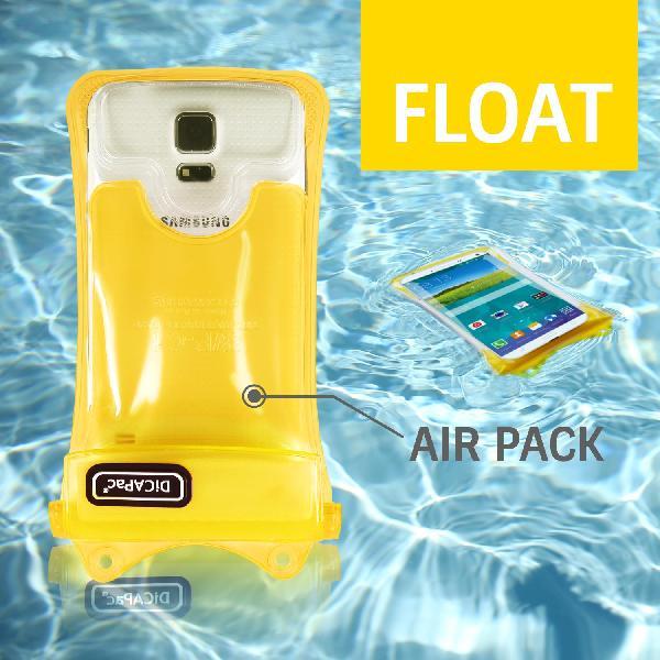 DiCAPac WP-C1(有現貨) 高耐磨手機防水袋(5.1吋以下)-黃色