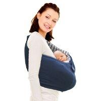 【限時78折】荷蘭【wallaboo】限量款明星袋鼠背巾-海軍藍-安琪兒婦嬰百貨-媽咪親子推薦