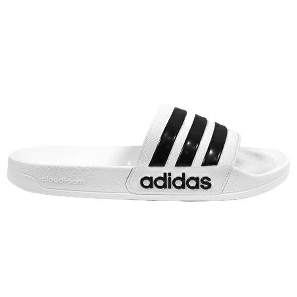 ADIDAS【AQ1702】AdiletteShower 拖鞋 防水拖 白色 男女尺寸都有