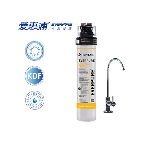 【淨水生活】《愛惠浦Everpure》公司貨 QL3-4K plus 家用標準型生飲淨水器  ★含標準安裝