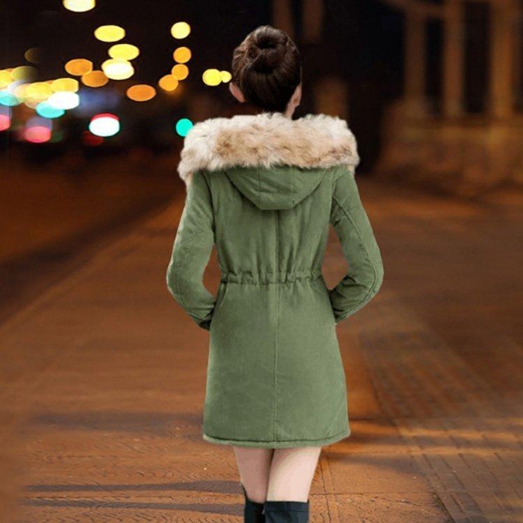 毛毛連帽長版抽繩外套丨9色 S~3XL