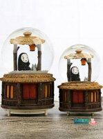 神隱少女周邊商品推薦水晶球 送女孩雪花守護旋轉無臉男音樂盒八音盒帶燈飄雪水晶球生日禮物