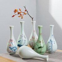 玉凈瓶茶道插花器家居擺件德化白瓷陶瓷小花瓶觀音瓶供佛禪意花瓶618購物節 0