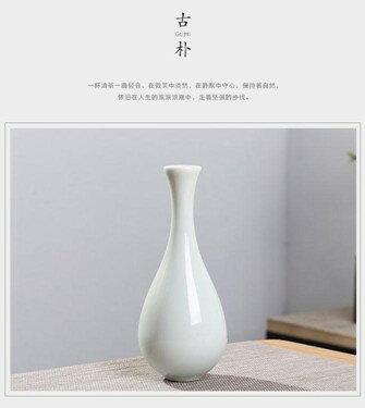 玉凈瓶茶道插花器家居擺件德化白瓷陶瓷小花瓶觀音瓶供佛禪意花瓶618購物節 5