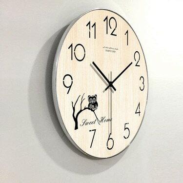 雅閣現代簡約家用掛鐘客廳臥室掛表創意個性靜音創意鐘表壁鐘WY  聖誕節禮物