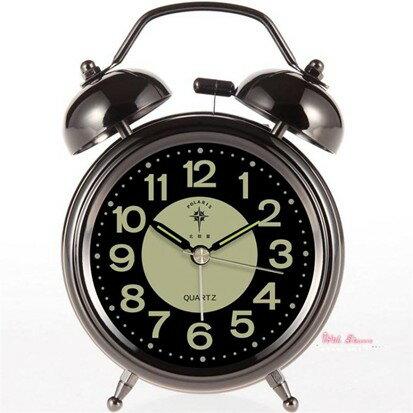 鬧鐘 北極星夜光鬧鐘創意靜音床頭鐘時尚時鐘兒童打鈴學生用鐘超大聲音 7款  聖誕節禮物