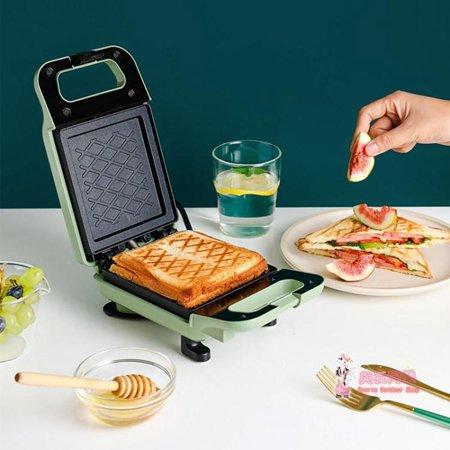 三明治機 早餐機多功能輕食吐司壓烤機網紅烤面包三文治機T 2色 萬事屋  聖誕節禮物