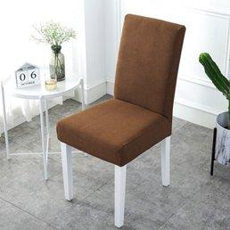 椅套 椅墊套裝餐椅套通用凳套座椅套彈力酒店餐桌椅子套罩布藝【萬事屋】  聖誕節禮物