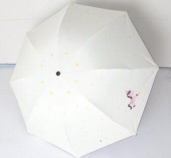 新款創意油畫傘黑膠防曬防紫外線三摺疊兩用女學生遮陽晴雨傘 萬事屋  聖誕節禮物
