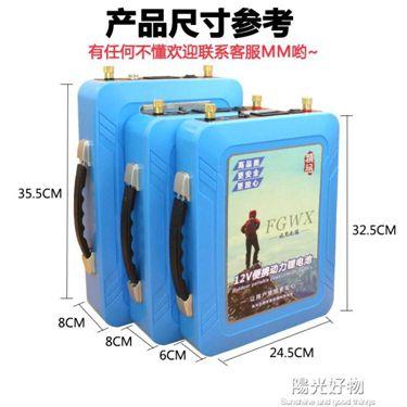 大容量鋰電池12v鋰電池大容磷酸鐵鋰動力戶外逆變器60AH100AH大容量電瓶組 NMS  聖誕節禮物