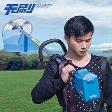 割草機 無刷電動割草機充電式家用草坪打草機鬆土機小型多功能農用除草機T 2