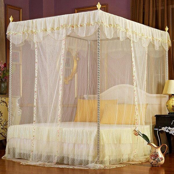 宮廷式蚊帳不鏽鋼落地三開門不鏽鋼1.2m米落地支架  聖誕節禮物