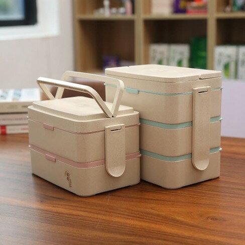 便當盒 依蔓特微波爐加熱便當盒專用日式長方形分格便當盒上班族送餐具套裝   萬事屋  聖誕節禮物