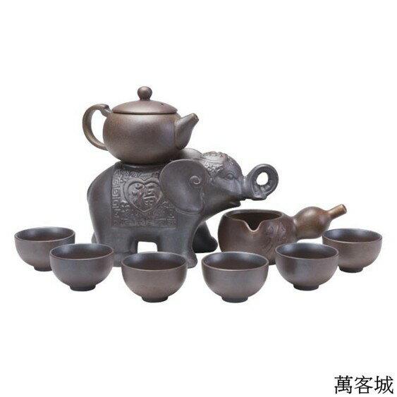 粗陶功夫茶具套裝半全自動泡茶器  聖誕節禮物