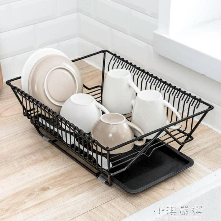 廚房碗筷餐具瀝水架水果蔬菜收納籃盤碗碟置物架子晾碗滴水架  聖誕節禮物
