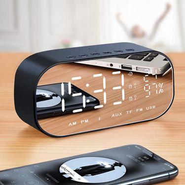 V5無線藍牙音箱超重低音小剛炮家用迷你電腦手機鬧鐘小音響 萬事屋  聖誕節禮物