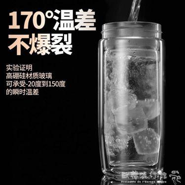 雙層玻璃杯男女士水杯大容量隔熱加厚泡茶杯子   『萬事屋』  聖誕節禮物